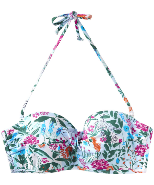 Women's Joules Delta Bikini Top - Pale Green Secret Garden