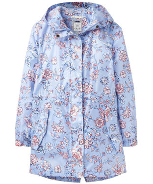 Women's Joules Golightly Waterproof Packaway Jacket - Blue Indienne Floral