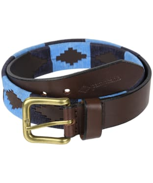 pampeano Leather Polo Belt - Azules