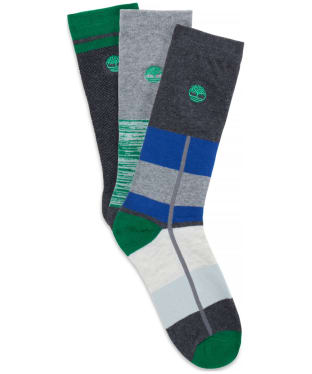 Men's Timberland 3 Pack Pattern Socks