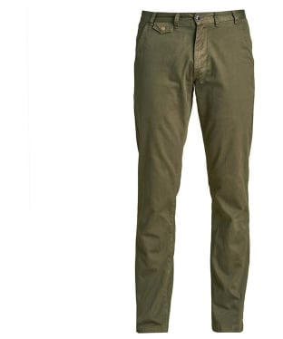 Men's Barbour Neuston Twill Chinos - Willow Green