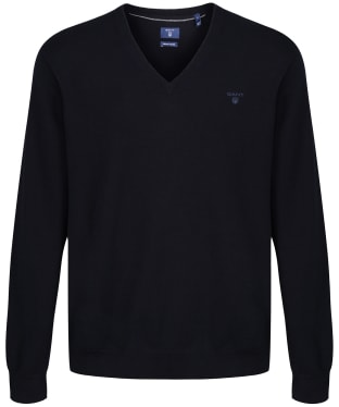 Men's GANT Lightweight Cotton V-Neck - Navy