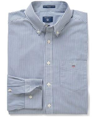 Men's GANT Regular Broadcloth Banker Shirt - Persian Blue