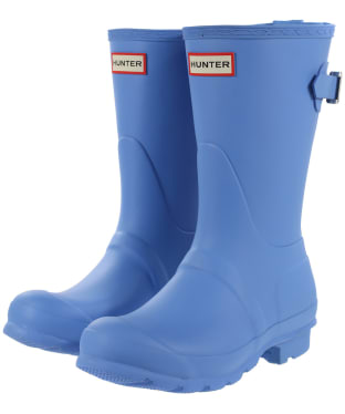 Women's Hunter Original Back Adjustable Short Wellingtons - Forget Me Not