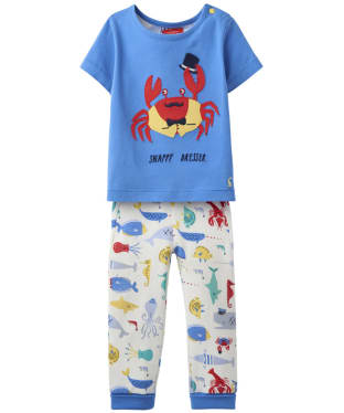 Boy's Joules Toddler Doodle T-Shirt and Trouser Set, 9-24m - Whitby Blue