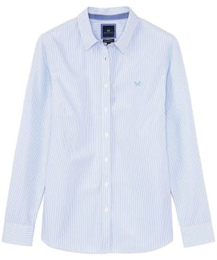 Women's Crew Clothing Classic Striped Shirt - Blue / White