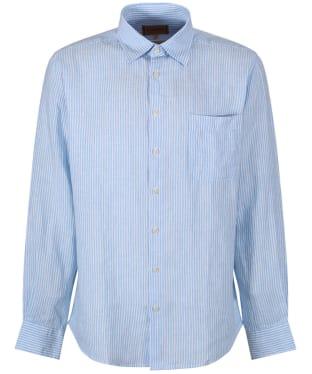 Men's Schoffel Thornham Shirt - White / Blue Stripe