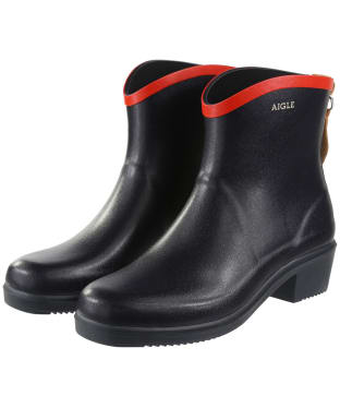 Women's Aigle Miss Juliette Bottillon Ankle Boots - Marine / Red