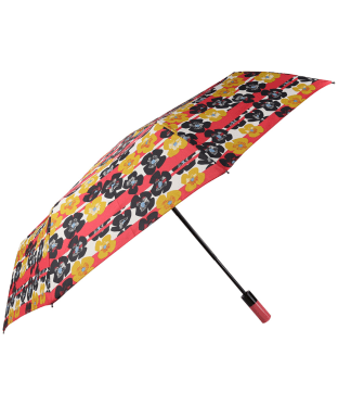 Hunter Original Auto Compact Umbrella - Pink Floral Stripe