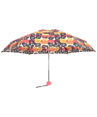 Hunter Original Floral Stripe Mini Compact Umbrella - Pink Floral Stripe