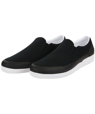 Women's Hunter Original Canvas Plimsoll - Black / White