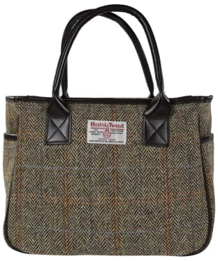 Women's Heather Fashions Amy Harris Tweed Box Tote Bag - Beige / Brown