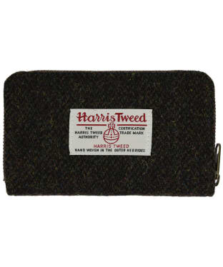 Women's Heather Fashions Amy Harris Tweed Zip Wallet - Brown Barleycorn