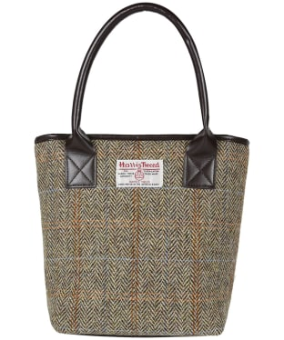 Women's Heather Amy Harris Tweed Bucket Tote Bag - Beige / Brown