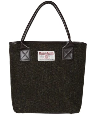 Women's Heather Amy Harris Tweed Bucket Tote Bag - Brown Barleycorn