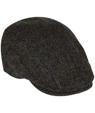 Heather Highland Harris Tweed Flat Cap - Grey