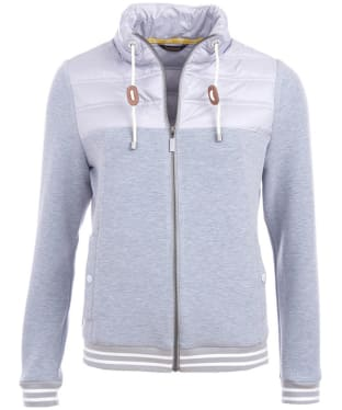 Women's Barbour Selsey Sweater Jacket - Light Grey Marl