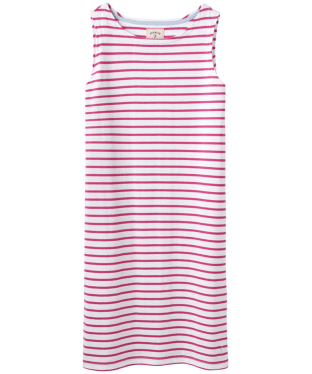 Women's Joules Riva Sleeveless Jersey Dress - Bright Pink Stipe