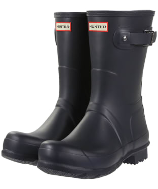 Men's Hunter Original Short Wellington Boots - Dark Slate