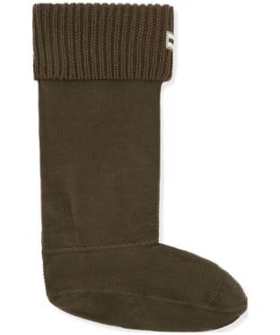 Hunter Ribbed Cuff Boot Socks - Dark Olive