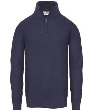 Men's Timberland Manhan River Half Zip Sweater - Maritime Blue