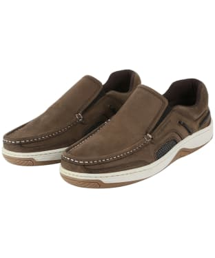 Men's Dubarry Yacht Loafers - Donkey Brown Nubuck