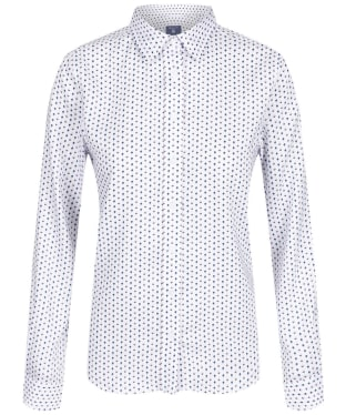 Women's GANT Tech Prep Oxford Print Shirt - Shadow Rose