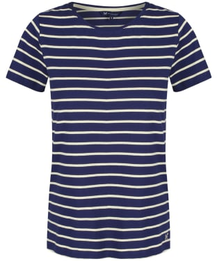 Women's Crew Clothing Breton Tee - Navy / Lemon