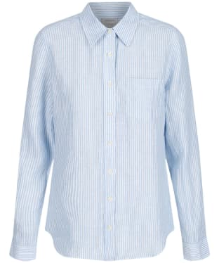 Women's Schoffel Saunton Shirt - White / Blue Stripe