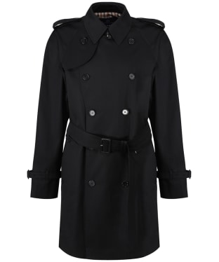 Men's Aquascutum Corby Double Breasted Trench Coat - Black