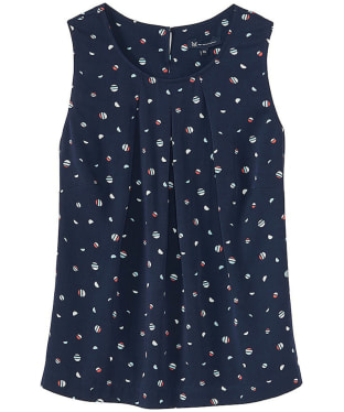 Women's Crew Clothing Orla Top - Disk Print Navy
