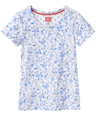 Women's Joules Nessa Print Jersey T-Shirt - White Sea Air Ditsy
