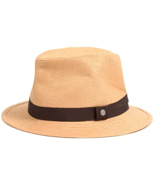 Men's Barbour Emblem Trilby Hat - Tobacco
