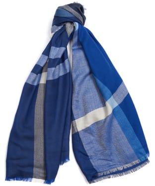 Women's Barbour Tartan Square Scarf - Blue Tartan