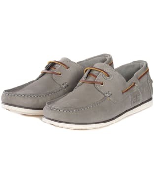 Men's Barbour Capstan Boat Shoes - Grey