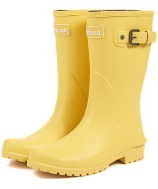 Women's Barbour Primrose Wellington Boots - Yellow