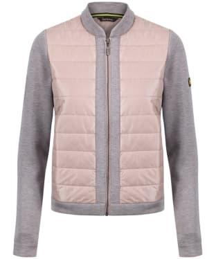 Women's Barbour International Brake Sweater Jacket - Pale Pink