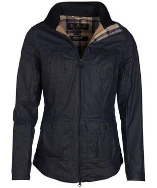 Women's Barbour Lightweight Filey Wax Jacket - Royal Navy