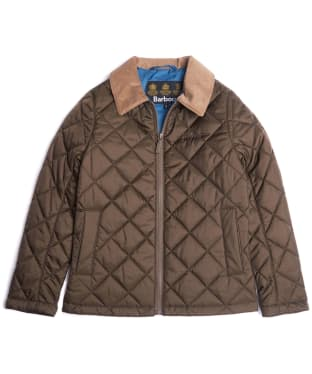 Boy's Barbour Helm Jacket, 10-15yrs - Olive