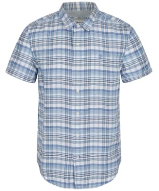 Men's Timberland Mill River Madras Shirt - Silver Lake Blue
