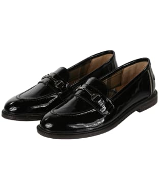 Women's Barbour Heather Loafers - Black High Shine