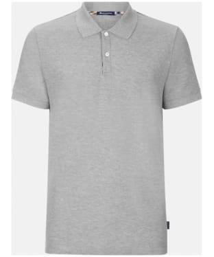 Men's Aquascutum Hill Club Check Polo Shirt - Grey Melange