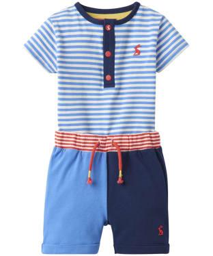 Boy's Joules Baby Joey Bodysuit and Short Set, 3-9m - Blue Stripe