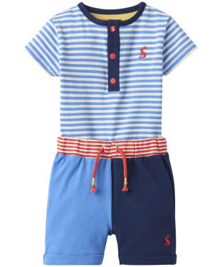 Boy's Joules Toddler Joey Bodysuit and Short Set, 9-24m - Blue Stripe