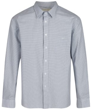 Men's R.M. Williams Collins Standard Collar Shirt - White / Blue / Green