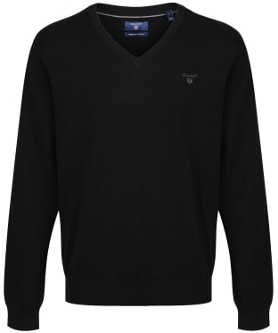 Men's GANT Lightweight Cotton V-Neck - Black