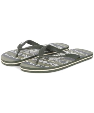 Men's Barbour Beacon Beach Sandals - Olive