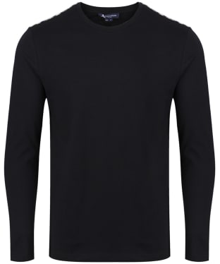 Men's Aquascutum Southport Club Check Tee - Black