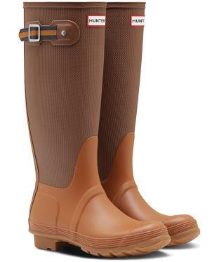 Women's Hunter Original Sissinghurst Tall Wellingtons - Soil / Red Clay / Marigold