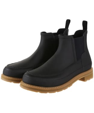 Men's Hunter Original Lightweight Mock-Toe Chelsea Boot - Black